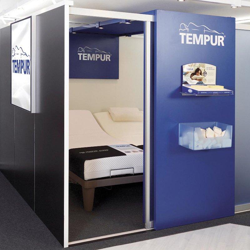 cabine pour essayer un matelas Tempur avis
