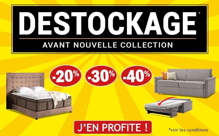 Destockage literie & canapé lit
